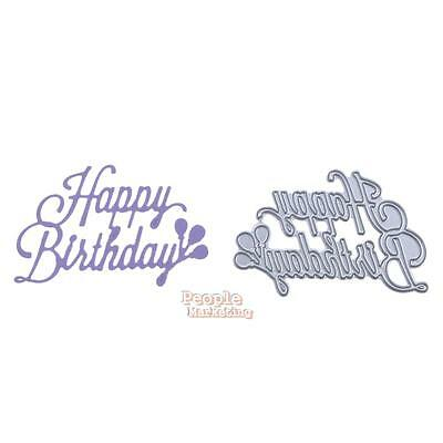 Birthday DIY Metal Cutting Dies Stencils Scrapbooking Die Cut Paper Craft Decor