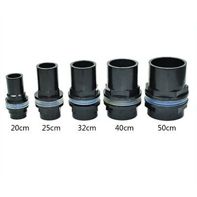5 Sizes Fish Tank Aquarium Straight Tank Connector Waterproof Pipe Joint