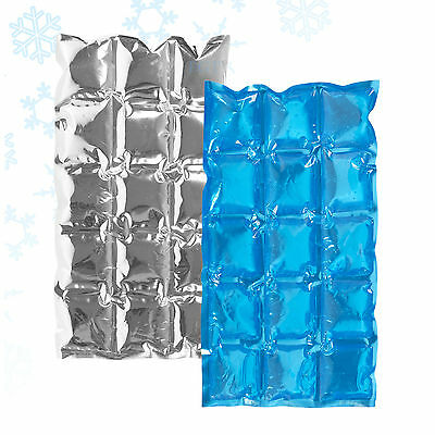 Flexible Reusable Ice Cooler Freezer Pack Cubes Lunch Box Picnic BBQ Camping NEW