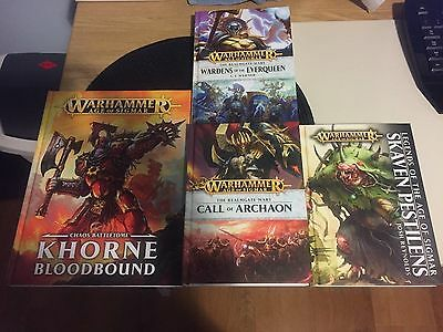 Khorne Bloodbound, Call of Archaon, Wardens of the Everqueen & Skaven Pestilens