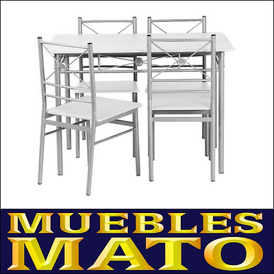 Conjunto De Mesa Y 4 Sillas Nisse Wine Color Blanco