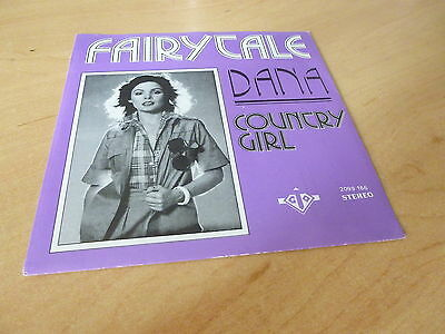 "Dana Fairytale/country Girl 7"" Vinyl Pic Slv Juke Box Ready  Combined Postage"