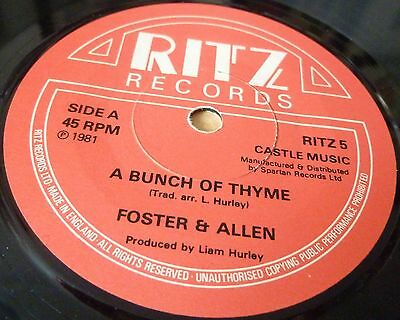 "Foster & Allen A Bunch Of Thyme/the Blacksmith 7"" Vinyl Combined Postage"