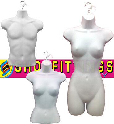 White High Quality Half Hanging Mannequin Torso Body Form Display Bust