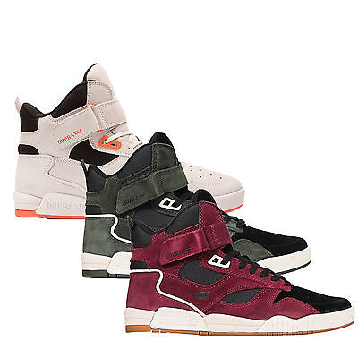 Supra Mens Bleeker Lace Up Active Gym Sport Hi Tops White Black Olive Trainers