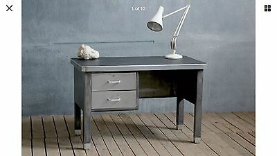 1950's MID CENTURY INDUSTRIAL FRENCH MILITARY DESK