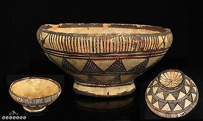 Ancient Cypriot / Greek Geometric Buff Pottery Bowl ca.1000 BC