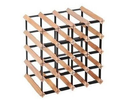 NEW 20 Bottles Capacity Heavy Duty Steel & Timber Kitchen Cellar Bar Wine Rack