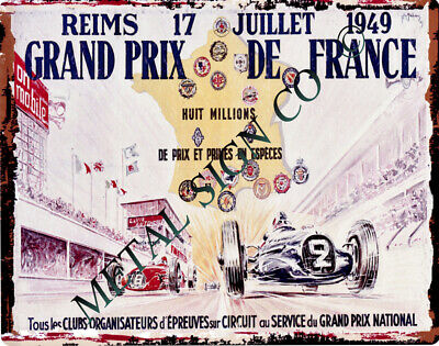 FRENCH GRAND PRIX 1949 METAL SIGN 8x10in pub bar shop cafe diner garage racing