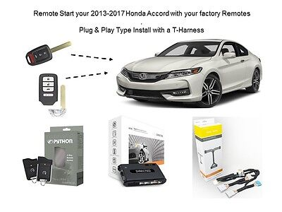 Plug Play Remote Starter For 2017 Honda Accord Directed 4x10 T
