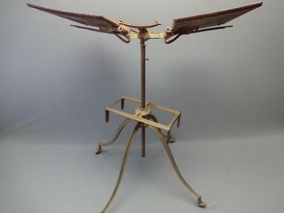 Antique Metal Gold Aeromotor Co. Bible / Book Stand Victorian Steampunk