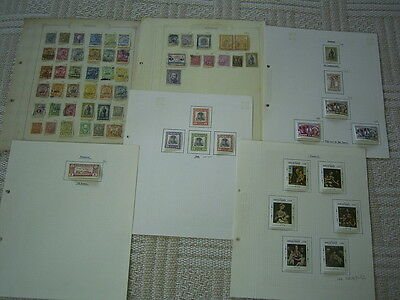 Paraguay Used Stamp Selection On Album Pages From Various Sources