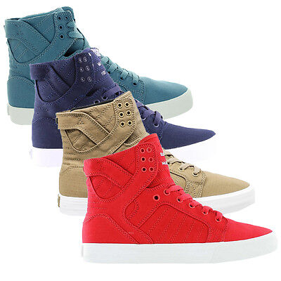 Supra Mens SkyTop D Lace Up Active Gym High Tops White Trainers