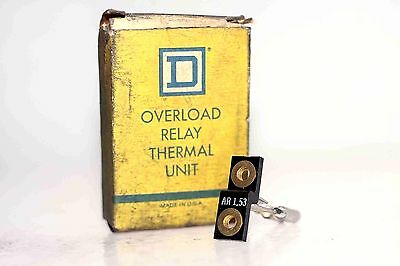 Square D Ar 1.53 Overload Relay Thermal Unit New In Box (Sb9)
