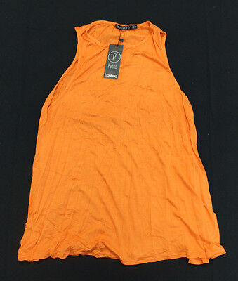 d83a66a8acc2 boohoo Women's Petite Olive Drop Armhole Swing Dress Orange CB4 US:4 UK:8