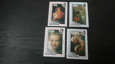 Gambia 1977 Sg 388-391 400Th Birth Of Rubens  Mnh
