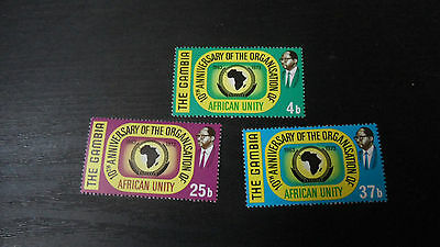 Gambia 1973 Sg 309-311 10Th Anniv Of O.a.u. . Mnh