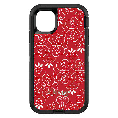 OtterBox Defender for iPhone 7 8 PLUS X XS Max XR Dark Red White Floral