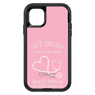 OtterBox Defender for iPhone 7 8 PLUS X XS Max XR Pink Nurse Stethoscope Heart