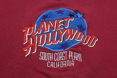 Planet Hollywood South Coast Plaza CA red XL sweatshirt well used