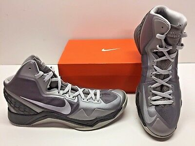 newest 715b7 f23eb Nike Zoom Hyperdisruptor Basketball Athletic Gray Sneakers Shoes Mens 13