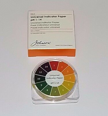 Johnson Universal Indicator Paper Reel 5m x 7mm Test paper Ph 1 - 14
