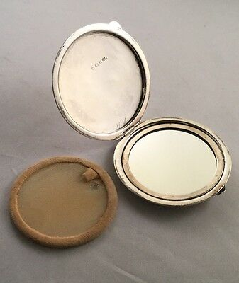 Vintage Sterling Silver Powder Compact, Birmingham 1946, V. Britain & Co