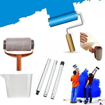 Pro Paint Roller Kit Brush Painting Runner Pintar Tool Facil Wall Home Decor Set