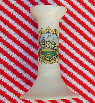 Gemma crested china Minehead Somerset English seaside town Miniature candlestick