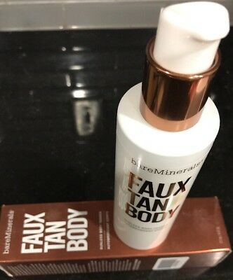 "bareMinerals Faux Tan Body Sunless Tanner 177ml NIB 100% Authentic.""Sun in A Can"