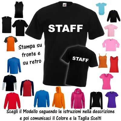 T-Shirt STAFF Responsabile Sicurezza Cotone Fruit of the Loom Russell BabyBugz