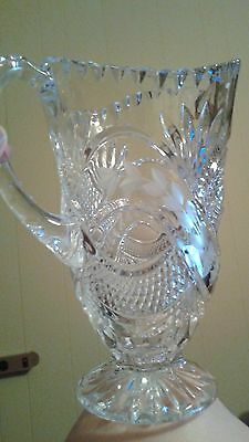 Gorgeous Crystal etched vase style pitcher pretty