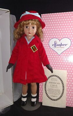 "Effanbee ""American Child"" 1936 Reproduction  w/ Box&metal wrist tag"