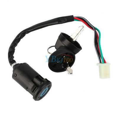 4 Wire Ignition 1 Key Switch Waterproof CO For 50 90 110 125cc ATV TAOTAO Bike