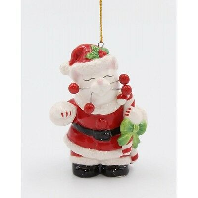 ✜ WHIMSICLAY CAT Kitten Ornament Collection Santa