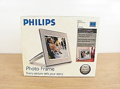 "Philips Photo Frame 9FF2CME Digital Picture Frame 9"" LCD Silver/Chrome NEW"