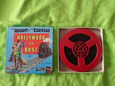 Super 8mm sound film b/w  abbott and costello hollywood and bust 50ft reel