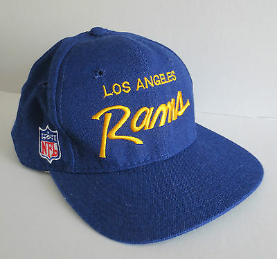Vintage LOS ANGELES RAMS LA Snapback Hat Cap Sports Specialties Wool 90s NFL