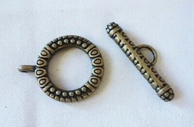2 Large Bronze Colour Toggle Clasps 28x22mm (Bar 30x9mm) #3758
