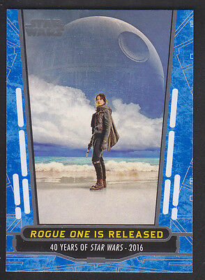 Topps Star Wars - 40th Anniversary - Blue Parallel Card # 100