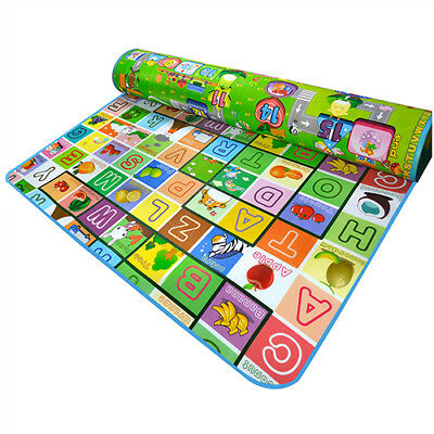 1.8x2M Cushion Thick Puzzle Play Mat Crawling baby waterproof mat Child X1E6