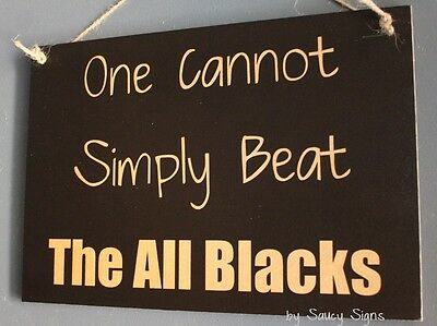 Cannot Beat The  All Blacks Rugby Sign Kiwi New Zealand Crusaders Blues Sign
