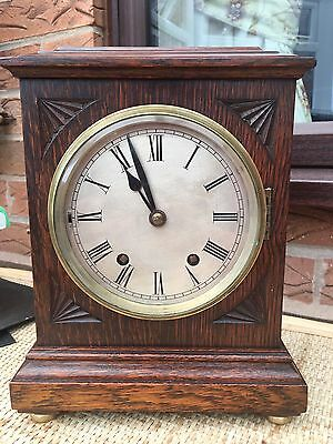 Antique  W&h 2 Train Westminster Chimes Clock Working Order