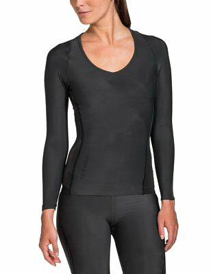 SKINS Womens Ry400 Recovery Long Sleeve Top , Black, SmallH