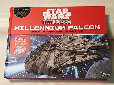 Star Wars Builders Millennium Falcon 64 Pg Book Model Pieces Quiz Starship NEW