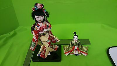 Beautiful Oriental Broider Doll, Chinese Old Style Doll Girl And Boy