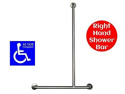 SHOWER GRAB BAR T for DISABLED RIGHT HAND HOLDER HANDRAIL SAFETY RAIL AS1428.1