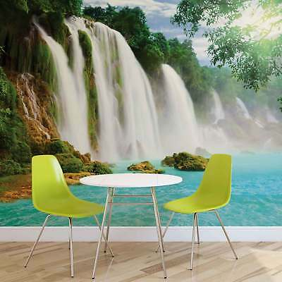 WALL MURAL PHOTO WALLPAPER XXL Waterfall Forest Water Nature Sun (10386WS)