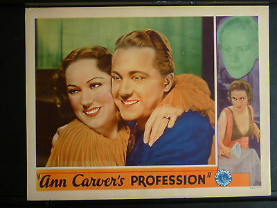 1933 Ann Carver's Profession - Vintage Fay Wray Lobby Card - Star Of King Kong