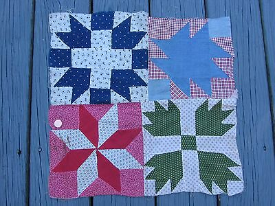 Little Pieced Quilt Top of 4 Old Squares